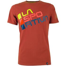 La Sportiva Square T-Shirt Herrer, brick/sulphur